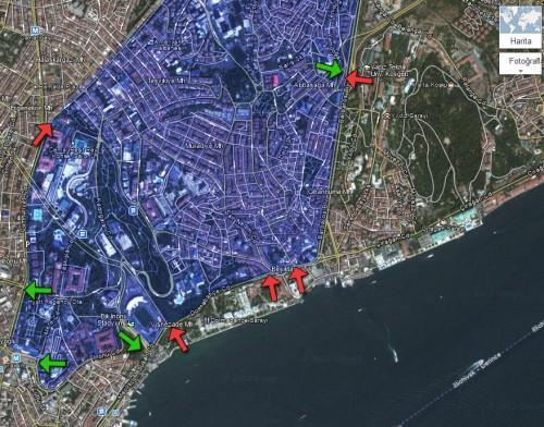 Beşiktaş belső területe