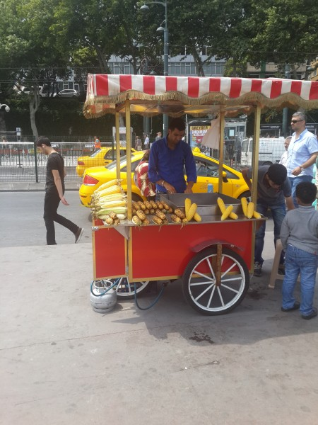 Kukorica árus