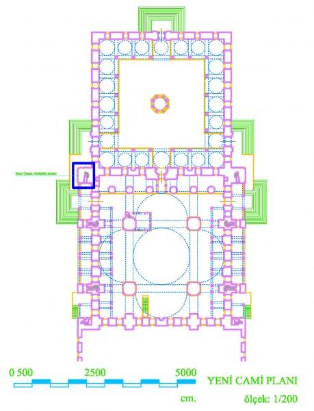 Yeni Cami alaprajza