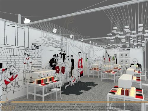 33. Isztambuli Nemzetközi Könyvvásár magyar standjának terve