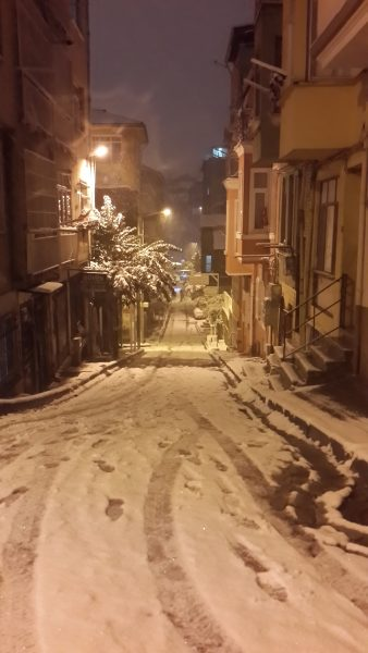 Péntek éjjel, amikor már tényleg lett hó