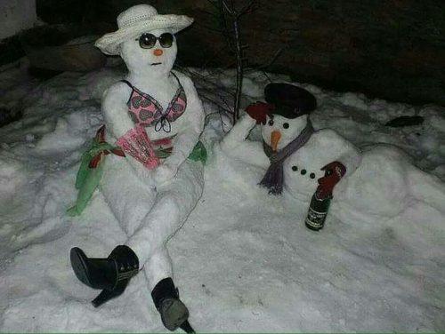 Piknikező hópár (forrás: ismeretlen)