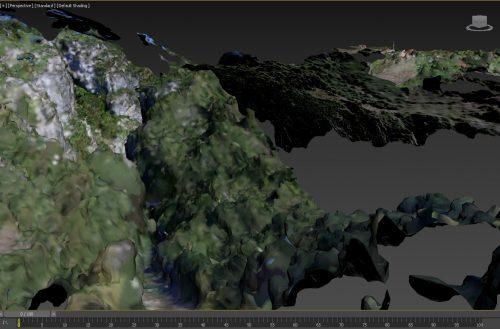 SzalmaFalva 3D modell - Kanyon