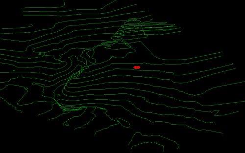 SzalmaFalva 3D topográfiai térképe (1 vonal=10 m)
