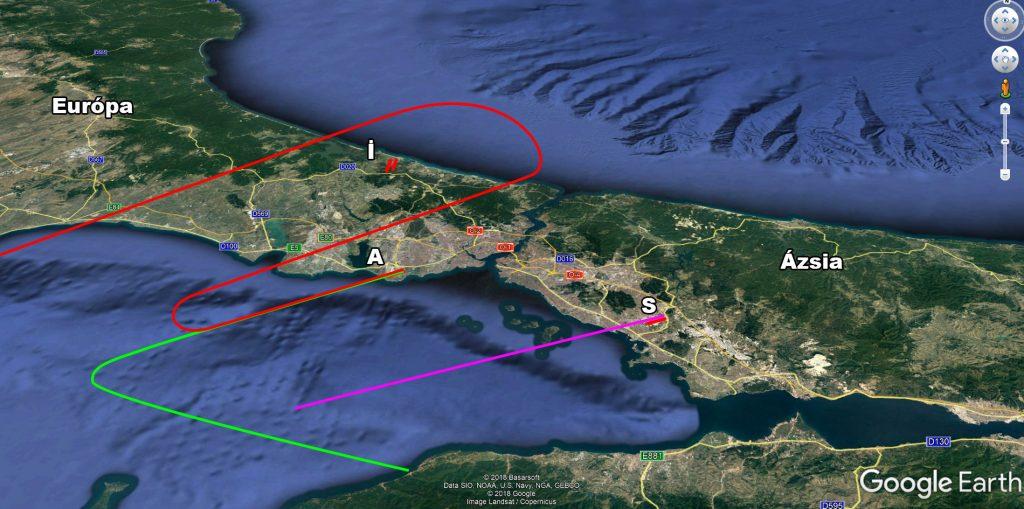 Isztambul légifolyosói az İGA előtt - Észak-keleti szélben