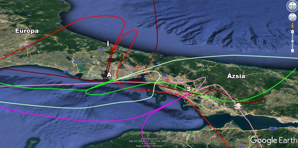 Isztambul új légifolyosói- Észak-keleti szélben