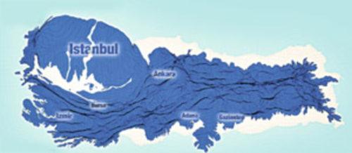 Törökország torzított népességi térképe - Forrás: Milliyet - Leverhulme Trust projes