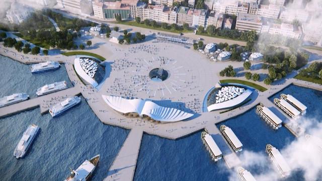 Kabataş Sirályos félsziget terv