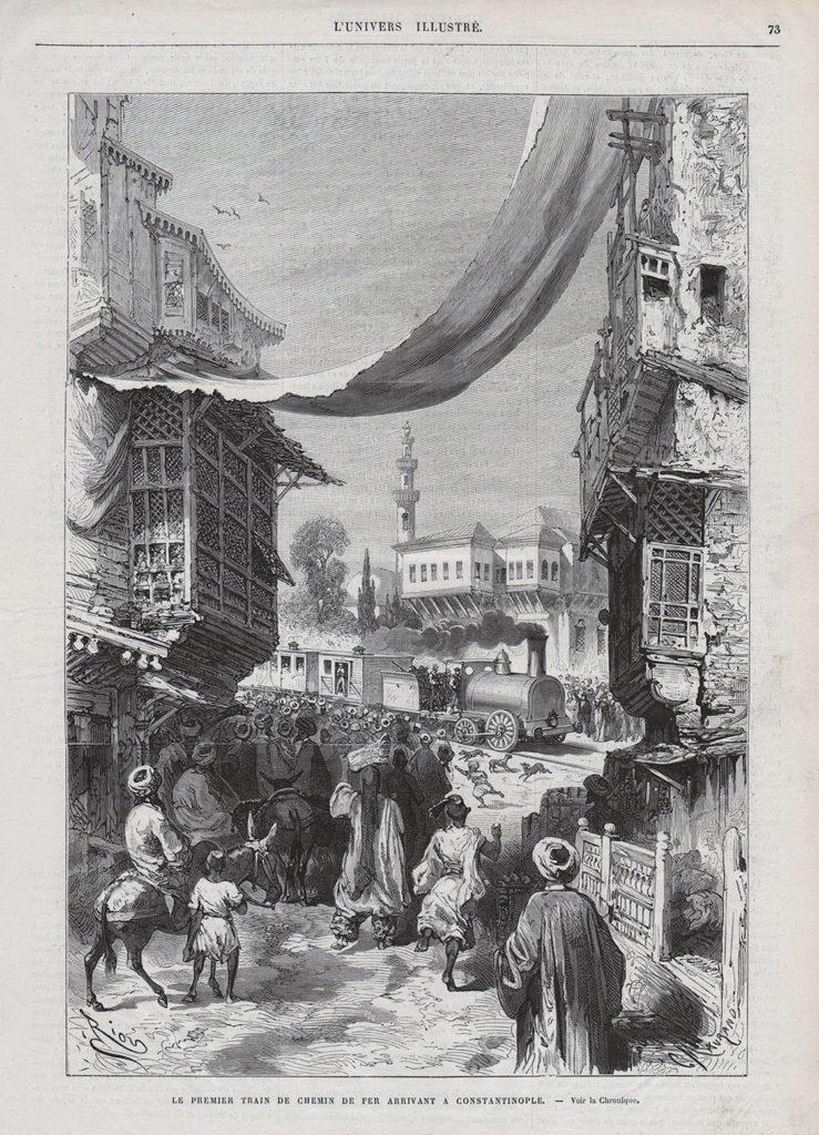 Isztambulba megérkezik az első vonat (1872) - Forrás: lcivelekoglu