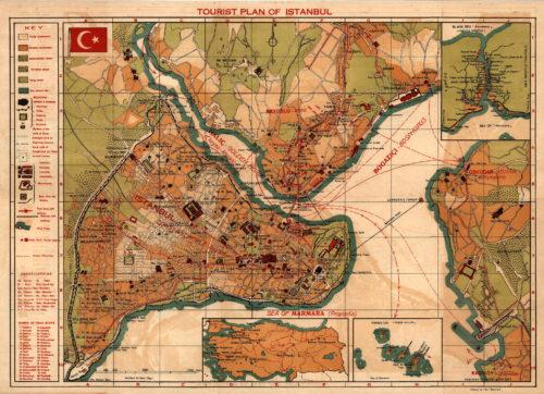 Isztambul turista térképe (1950??) Forrás: http://www.midafternoonmap.com