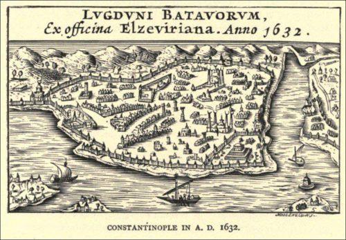 Egy térkép 1632-ből, a klasszikus nézetben. Forrás: kültürİstanbuL