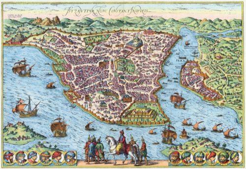 Isztambul 1574-ben.  By: Georg Braun and Franz Hogenberg