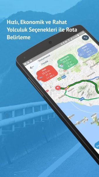 Ez a roppant előnyös kép megmutatja, hogy az Easy Router milyen alternatív utakat ajánlj fel. Láthatjuk a várható benzinköltséget is.