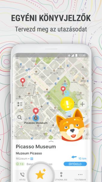 Maps.me egyéni könyvjelzőkkel