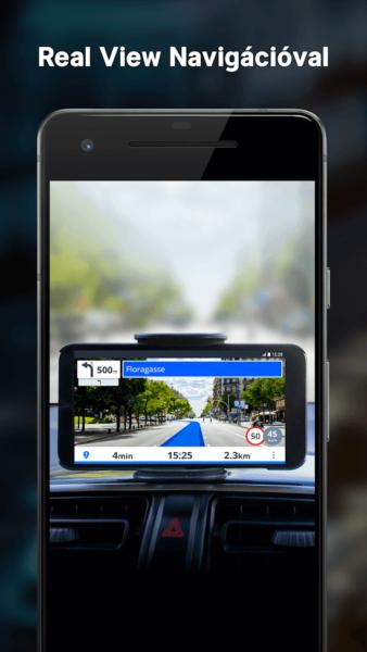 Sygic kiterjesztett valóság (AR) navigációja