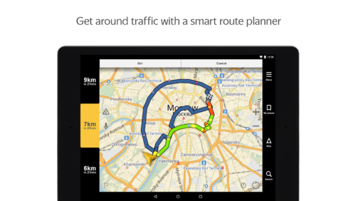 A Yandex navigációja