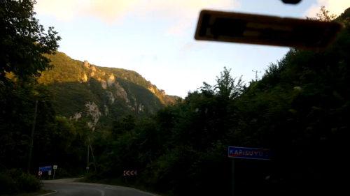 Kapısuyu I vége, megyehatár, kispatak majd kezdődik Kapısuyu II