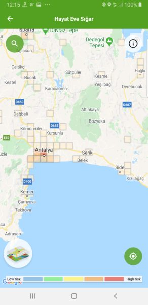 Antalya koronavírus térképe