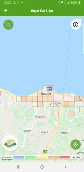 Trabzon koronavírus térképe