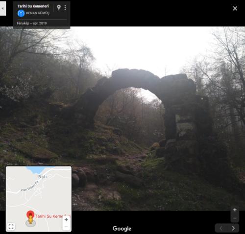 Itt egy történelmi vízvezeték bújik meg az erdőben. Helyszín: Balı Fotó: Kenan Gümüş