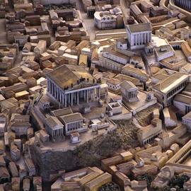 Az ókori Róma modellje Nagy Konstantin idejében (4. század). Forrás: Római Civilizáció Múzeuma