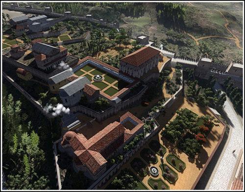 Blakherna-palota rekonstrukciója. Forrás: byzantium1200