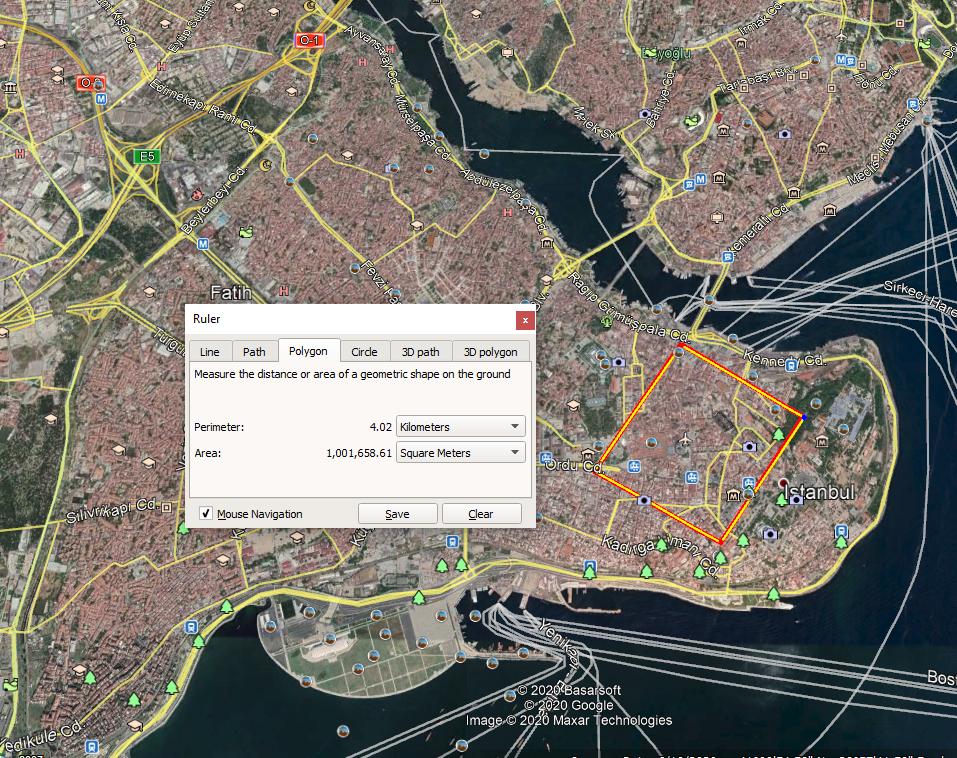 Ekkora lenne egy 1 km²-es Konstantinápoly.