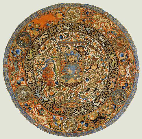 Iszlám selyem a 14. századból. Forrás: Wikipédia