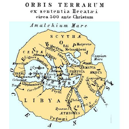 Görög világtérkép i.e. 500 körül. Forrás: globalsecurity.org