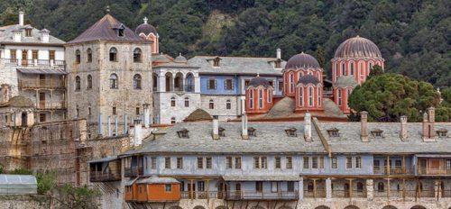 Mount Athos monostor. A Pallasweb szerint így nézhetett ki a Mangana komplexum is. Forrás: pallasweb