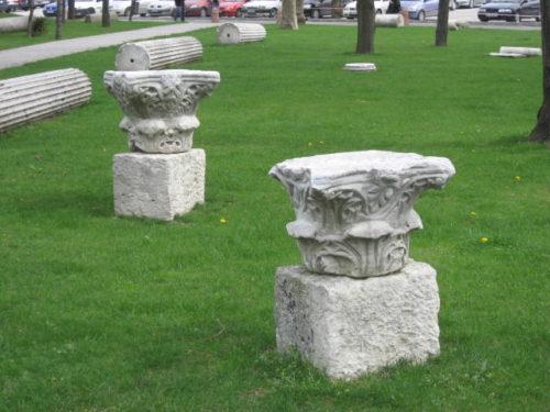 A késő római és a korai bizánci maradványok az isztambuli egyetem campusán, a Beyazıt-torony mellett találhatók. Forrás: Wikipédia