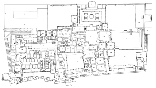 Topkapı Palota alaprajza. Forrás: Wikipédia